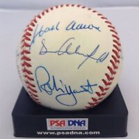 3000 HIT CLUB SIGNED BASEBALL WILLIE MAYS HANK AARON MUSIAL  PSA DNA 12 AUTOS