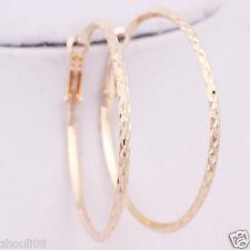 gorgeous 9k Yellow Gold Filled Elegant Ear Stud dangle hoop Earrings e528