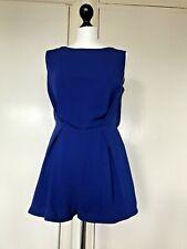 Topshop Petite Women Blue Short Jumpsuit Size 10 Petite Brand New Without Tags