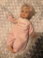 Thumbelina Doll With True Blonde Hair Original PJ's E20