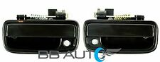 1995-2004 TOYOTA TACOMA FRONT OUTER EXTERIOR SMOOTH BLACK DOOR HANDLE PAIR NEW