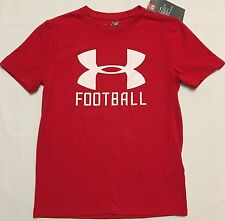 NWT youth Boys' YMD medium UNDER ARMOUR t-shirt heatgear FOOTBALL all season UA
