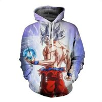 3D Hoodie Sweatshirt Anime Dragon Ball Super Saiyan Goku Ultra Instinct Vegeta