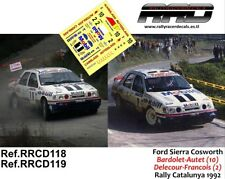 DECAL/CALCA 1/43; Ford Sierra Cosworth; Bardolet/Delecour; Rally Catalunya 1992