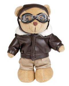 Mil-Tec Teddy Pilot mit Kleidung Teddybär Kuschelbär Plüschbär Kuscheltier 20cm