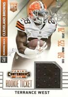 2014 Panini Contenders Terrance West RTS-14 Rookie Ticket Patch Relic Swatch