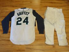 KEN GRIFFEY JR. 1999 GAME USED MARINERS UNIFORM GREY FLANNEL AUTHENTIC JERSEY