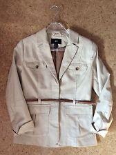 H&M Damen Jacke Trench Coat Blazer Beige Gr. S 36 38 Neuwertig