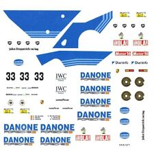 #33 DANONE 956/962 PORSCHE 1/32nd Scale Slot Car Waterslide Decals