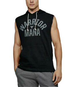 UA WARRIOR MANA PROJECT ROCK Sleeveless Hoodie Under Armour Men's Size M New NWT