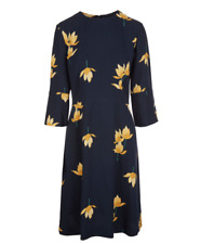 NWT $1730 MARNI Navy Floral Print Dress Size 36
