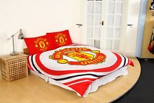 Official MANCHESTER UNITED Football Club Double Duvet Quilt Cover Set Boys Kids