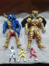 "Goldar Space Aliens 8"" Power Rangers MMPR 1994 Action yellow red white? Big toys"