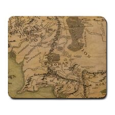 Map Of Middle Earth Realm Lord Of The Rings Mouse Mat Pad Mousepad