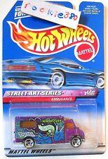 1999 Hot Wheels #951 ∞ AMBULANCE ∞ STREET ART SERIES #3/4 MF PURPLE 3SP