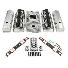 Chevy SBC 350 Hyd FT 190cc Straight Plug Cylinder Head Top End Engine Combo Kit