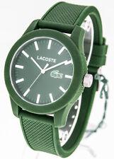 LACOSTE 12.12 Herrenuhr Modell 2010763 Poloshirt Silikonband grün Indexe weiß