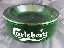 Stammtischaschenbecher Carlsberg Vintage Aschenbecher Glas Grün