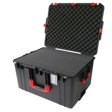 Black & Red Pelican 1637 Air case With Foam.  With wheels.