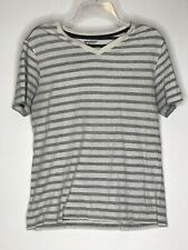 ARIZONA GREY/WHITE HORZONTAL STRIPE MENS T-SHIRT SIZE: SMALL
