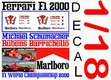 ANEXO DECAL 1/18 FERRARI F1 2000 MICHAEL SCHUMACHER – RUBENS BARRICHELLO (04)