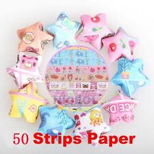 Origami Folding Paper 50 Strips Papers Lucky Wish Star Crafts Xmas Gift Present