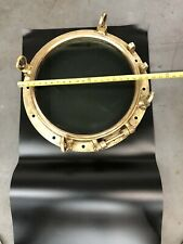 Vintage Brass Ship Porthole with Glass Cover