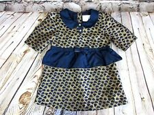 Heirlooms By Polly Flinders Girls Size 5 Toddler Dress Gold Blue Heart Fancy