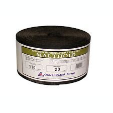 Consolidated Alloys MALTHOID Bitumen Impregnated 2Ply Felt 90mmx20m or 110mmx20m