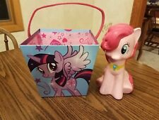 "Hasbro My Little Pony Pinkie Pie 9.5"" Ceramic Coin Bank with Paperboard Bucket"