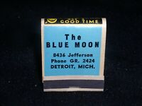 The Blue Moon~8436 Jefferson,Detroit, Michigan;1930s/40s full 20 stick Matchbook