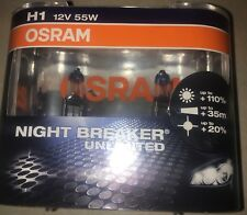 OSRAM H1 NIGHTBREAKER UNLIMITED extra Lifetime Upto 110% more Light
