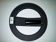 "Hand Wheel 6 Inch 2 Spoke w/ Folding Handle Alum. Powder Coated with 1/2"" Bore"