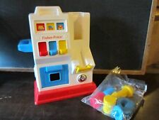 Vintage 1991 Fisher Price Gas station toddler #1032 wrench pump oil garage toy