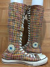 RARE�� Converse Chuck Taylor XX Sky Hi Zip Quilt Twill Tweed Sz 10 Women - 8 Men