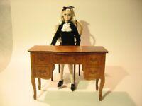 """table for BRB FR FR2 BJD Dolls furniture 1/6 12"""" OOAK wooden v10"""