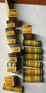16 Rolls KODAK C, CX & Ektacolor 620, Tri-X Pan, Royal-X & Panatomic-X 120 Film