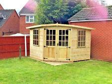 8x8 Corner Summerhouse Shed Garden Office Workshop T&G Heavy Duty Treated