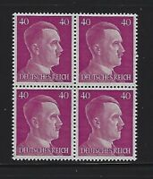 MNH stamp block / Adolph Hitler 1941 / PF40 / Original Third Reich Germany Block