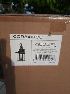 Quoizel CCR8410CU Chancellor 3 Light 24 inch Copper Bronze Outdoor Wall Lantern