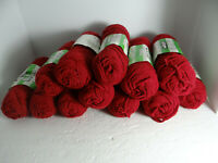 Vintage Zayre DuPont Acrylic 12 Skeins Yarn Burgundy 4 Ply 3 oz. Same Dye Lot