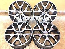 "22"" 22 Inch 2014 GMC Sierra Denali OEM Replacement Black Wheels Rims 4set 4-set"