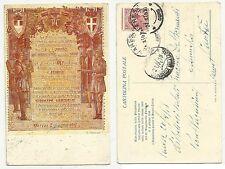 antica cartolina militare PERGAMENA DI VARESE 1918