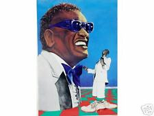 Ray Charles•R&B Soul•Singer Composer•Polish Art Print 19x27 Rare POSTER