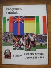 Jun-1985 England Tour Of Mexico: At Estadio Azteca, Tournament Pre 1986 World Cu