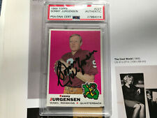 Sonny Jurgensen auto Psa/Dna COA signed 1969 Topps football card autograph #227