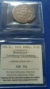 1674 German States BRUNSWICK-LUNEBURG-CALENBERG 24 Mariengroschen ICCS F-12