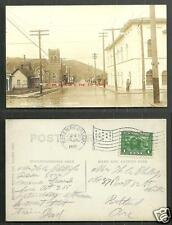 Roseburg rppc Eastlane Street Church Oregon stamp 1915