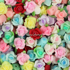Wholesale 50pcs Mixed 10mm Polymer Fimo Clay Flower Loose Spacer beads SL102
