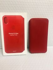 Genuine Apple - iPhone® XS Max Leather Folio - (PRODUCT)RED  *USED*